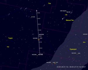 Путь астероида 2004 BL86