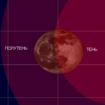 Земная тень и Луна 2015-04-04Т20:00